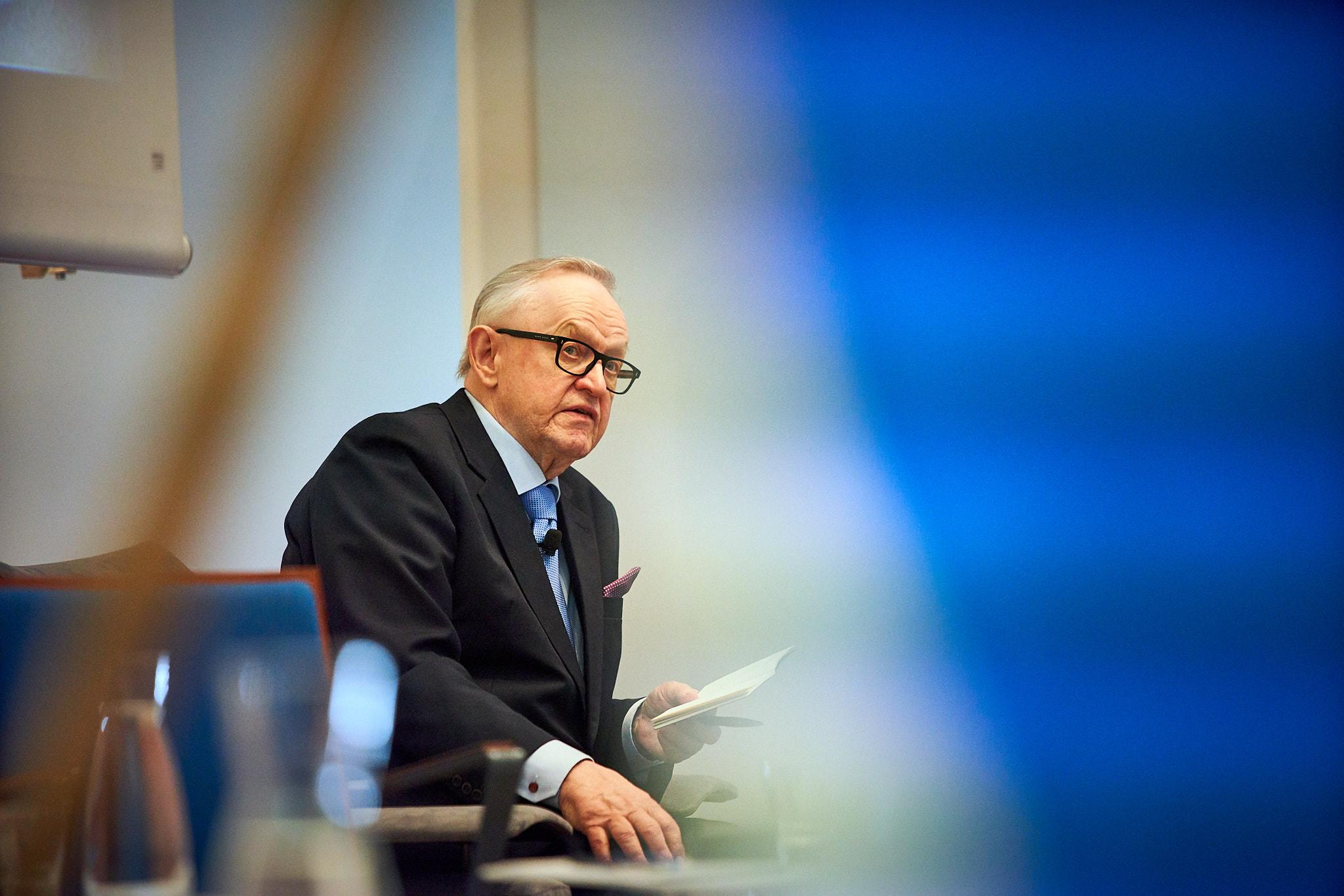 Presidentti Ahtisaari Maailma Nyt! -huippufoorumissa 23.5.2018