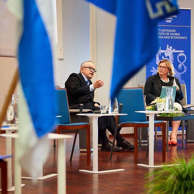 @embaoulu: Maailma Nyt! Martti Ahtisaari Instituutin huippufoorumi 23.5.2018. Kuva: Mikko Törmänen #marttiahtisaariinstituutti #marttiahtisaari #presidentti