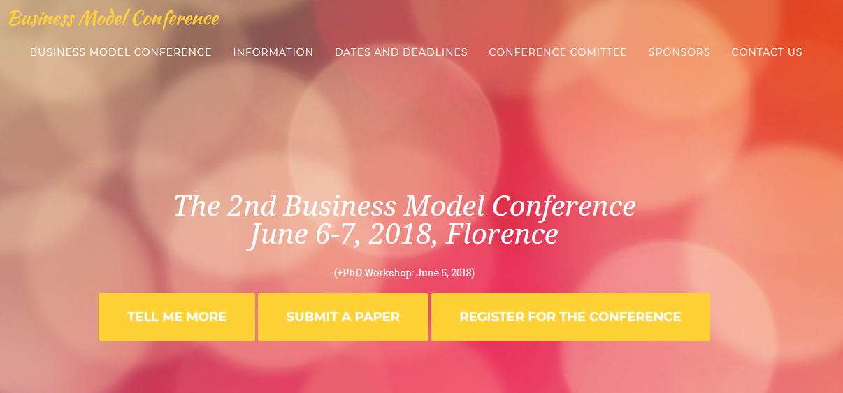 The 2nd Business Model Conference held